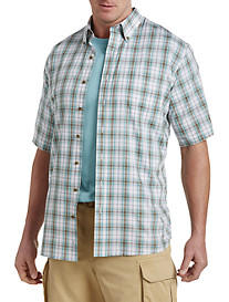 Harbor Bay® Easy-Care Medium Multi-Plaid Sport Shirt