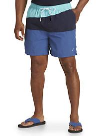 Nautica® Quick-Drying Colorblocked Swim Trunks