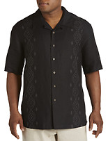 Island Passport® Embroidered Panel Sport Shirt