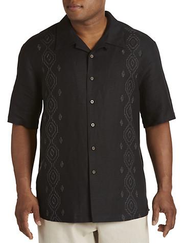 Island Passport® Embroidered Panel Sport Shirt