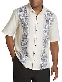 Island Passport® Floral-Printed Panel Sport Shirt