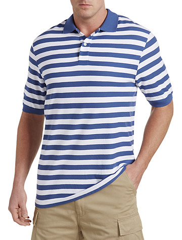 Harbor Bay® Bi-Color Stripe Polo (blue/white)
