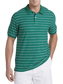 Harbor Bay® Mini-Stripe Polo
