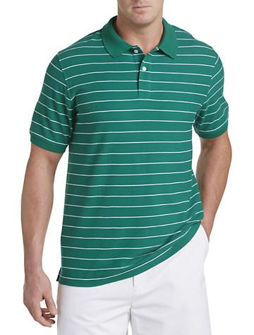 Harbor Bay® Mini-Stripe Polo