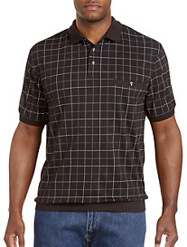 Harbor Bay® Double-Square Pattern Banded-Bottom Shirt