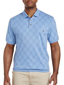 Harbor Bay® Diamond Pattern Banded-Bottom Shirt
