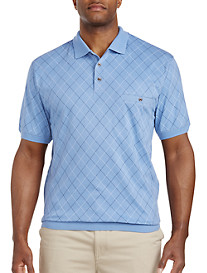 Harbor Bay® Diamond Pattern Banded-Bottom Shirt