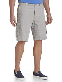 True Nation® Linen-Blend Cargo Shorts