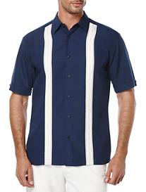 Cubavera® Contrast Panel Sport Shirt