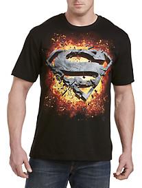 Superman Logo Explosion Graphic Tee