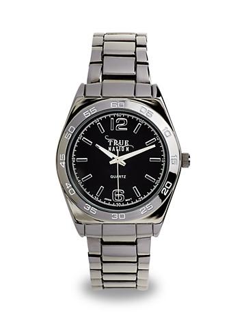 True Nation® Gunmetal Bracelet Analog Watch