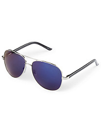 True Nation® Blue Mirrored Aviator Sunglasses