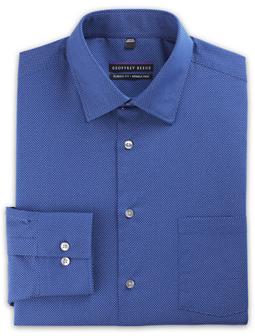 Geoffrey Beene® Non-Iron Royal Blue Dot - Available in andes blue