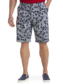 PX Clothing Oxford Printed Shorts