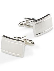 Geoffrey Beene® Brushed Silvertone Cuff Links
