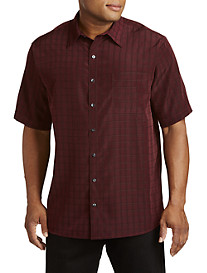 Synrgy™ Large Plaid Microfiber Sport Shirt