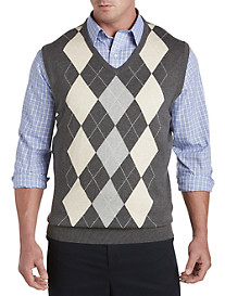 Harbor Bay® V-Neck Argyle Vest