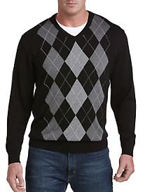 Harbor Bay® V-Neck Argyle Pullover