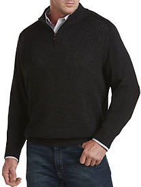 Oak Hill® 1/4-Zip Textured Sweater