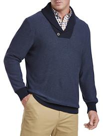 Oak Hill® Shawl-Collar Sweater (navy)