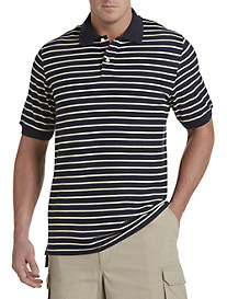 Harbor Bay® Narrow Stripe Polo