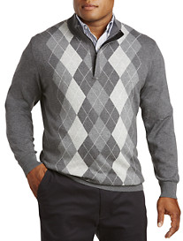 Oak Hill® 1/4-Zip Argyle Sweater