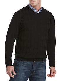 Synrgy™ Tonal Argyle V-Neck Sweater