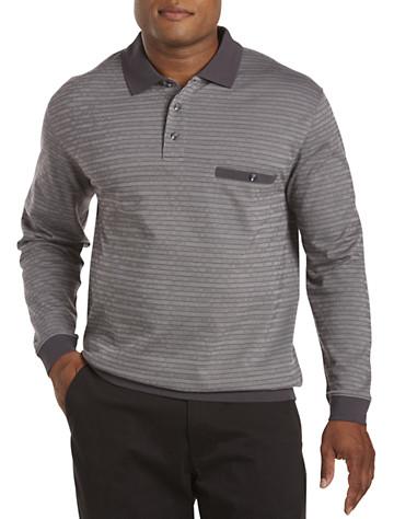 Harbor Bay® Mini Stripe Jacquard Banded-Bottom Shirt