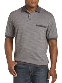 Harbor Bay® Mini Stripe Jacquard Banded-Bottom Shirt