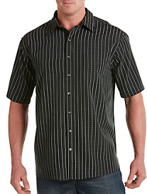 Harbor Bay® Small Plaid Microfiber Sport Shirt