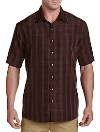 Harbor Bay® Large Plaid Microfiber Sport Shirt