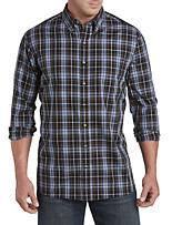 Harbor Bay® Easy-Care Large Plaid Sport Shirt