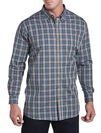Harbor Bay® Easy-Care Large Plaid Sport Shirt
