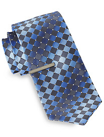 Gold Series® Diamond-Pattern Tie with Tie Bar