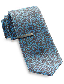 Gold Series® Tonal Swirl Paisley Tie