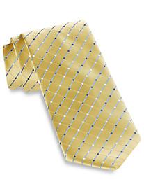 Geoffrey Beene City Grid Silk Tie