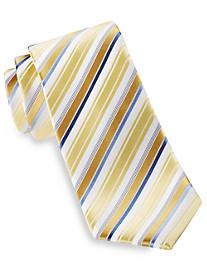 Geoffrey Beene White Stripe Silk Tie