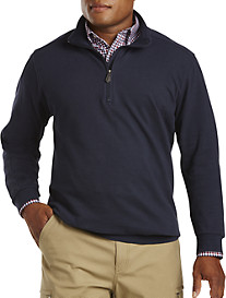 Oak Hill® 1/4-Zip Brush Backed Piqué Pullover