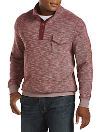True Nation® Marled Slub-Knit Pullover
