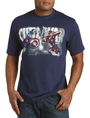 Captain America Vs. Iron Man Graphic Tee