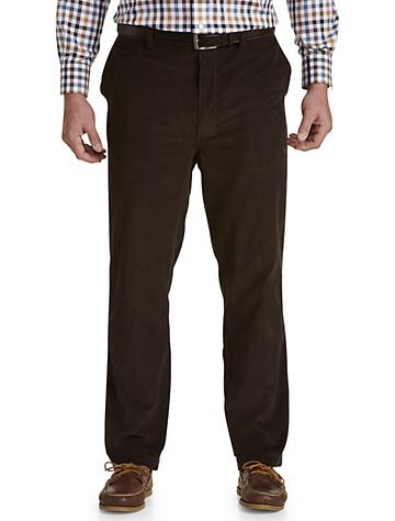 Oak Hill® Flat-Front Waist-Relaxer® Corduroy Pants