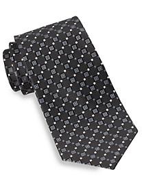 Gold Series® Diamond Geometric-Pattern Neat Silk Tie