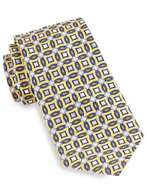 Gold Series® Circle Medallion-Pattern Silk Tie