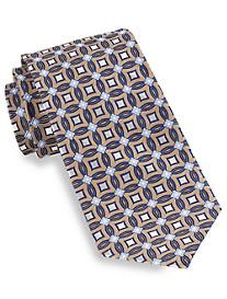Gold Series Circle Medallion-Pattern Silk Tie