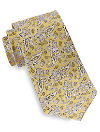 Gold Series Small Tonal Paisley Pattern Silk Tie