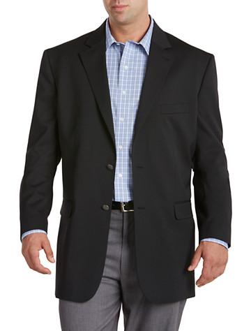 Mens Long Black Wool Coat from Destination XL