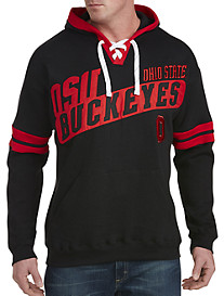 Ohio State Black Lace-Up Pullover