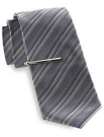 Gold Series® Stripe Baseball Tie with Tie Bar
