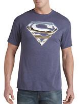 Superman Chrome Logo Graphic Tee