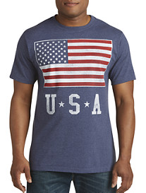 USA Flag Stack Graphic Tee